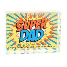 Super Dad Crystal - Comic Book Personalised Father's Day or Birthday Gift for Dad